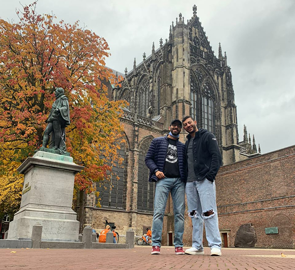 Islam and friend in Lille