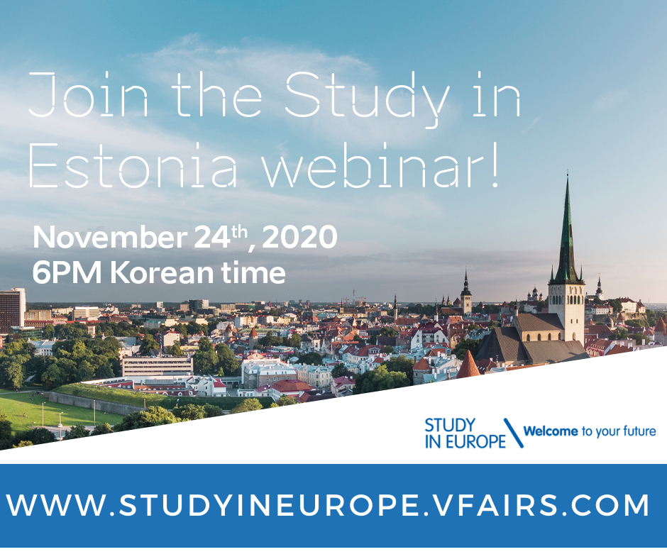 Study in Estonia webinar for Korea